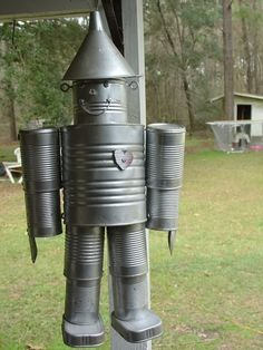 Tin can man directions garden art pinterest lobbies for Tin man out of cans