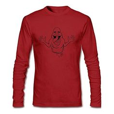Yusij Mens Ghostbusters Slimer Long Sleeve T-shirt @ niftywarehouse.com #NiftyWarehouse #Ghostbusters #Movie #Ghosts #Movies #Film