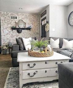 best cozy farmhouse living room decor ideas 44 – Home Design Room Makeover, Farmhouse Decor Living Room, Home Living Room, Farm House Living Room, Room Design, Interior, Home, Interior Design, Living Decor