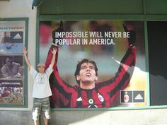 NY in 2004...came all the way from Cali to see AC Milan & Kaka