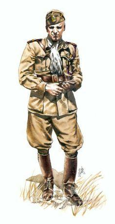 Regio Esercito. Capitano 64° battaglione coloniale dell'A.O.I., pin by Paolo Marzioli