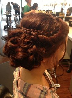 Beautiful Brown Homecoming Hairstyle