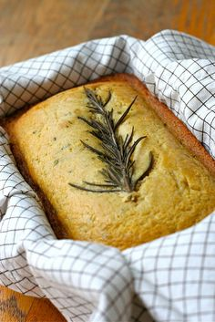 Sweet Rosemary Cornbread~T~I love this bread with a pot of soup or beans. I often make extra of both bread and soup and give as a gift to a friend.