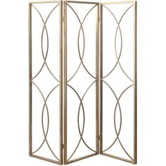 Out There Interiors Room Divider In Antique Gold Or Silver ($2,200) ❤ liked on Polyvore featuring home, home decor, panel screens, homeware, silver home accessories and silver home decor