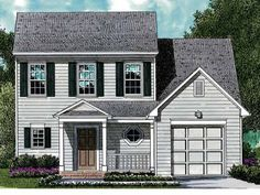 Cape Cod House Plan with 1394 Square Feet and 3 Bedrooms from Dream Home Source | House Plan Code DHSW33736