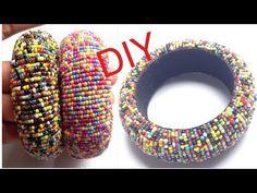 DIY Silk Thread Bangle! How to Make Seed Bead Bangles At Home! Latest silk thread bangles - YouTube