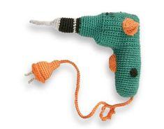 Juguetes de Profesiones en Crochet | Otakulandia.es Crochet Animals, Donkey, Fingerless Gloves, Arm Warmers, Mini, Dinosaur Stuffed Animal, Wool, Products, Toys