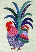 about Rooster quilts on Pinterest | Roosters, Applique quilt patterns ...