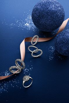 Stunning rings from the PANDORA Christmas collection 2014. #PANDORAring #Stars #Cosmic