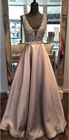 V Neckline Prom Dress, Back To School Dresses, Prom Dresses For Teens, Graduation Party Dresses BPD0523