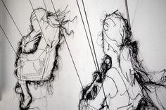 In Full Swing (detail), installation - Debbie Smyth