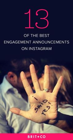 In need of a clever way to announce your engagement across the social world? Take a look at these 13 pics.