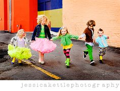 .love bright colors tutus and rainboots