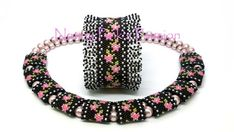 This is a PDF pattern for making both the Sweet Rosie Odd Count Peyote Bracelet w/Fringe & Double Carrier Bead (acrylic) Cover pictured above. Please note that this listing is for a pattern only, and does not include any finished jewelry or supplies.  The LARGE PRINT tutorial