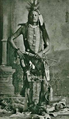 Snake Whistle (aka Young Wild Hog, aka Bird Wild Hog), the son of Wild Hog (Northern Cheyenne)  Stands In Lodge (Oglala Lakota), and the husband of Lydia Little Wolf-Wild Hog  Northern Cheyenne 1880 #GeorgeTupak