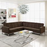 Found it at AllModern - Loft Wool L Shaped Sectional Sofa