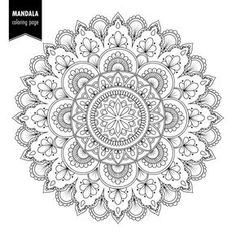 Mandalas Coloring Pages Mandala Design, Geometric Pattern Design, Cool Coloring Pages, Mandala Coloring Pages, Mandala Drawing, Mandala Art, Estilo Mehndi, Monochrome, Paper Bead Jewelry