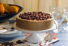No Bake Pumpkin Praline Cheesecake from Simply Gluten Free Praline Cheesecake Recipe, No Bake Pumpkin Cheesecake, Gluten Free Cheesecake, Gluten Free Desserts, Cheesecake Recipes, Desserts To Make, No Bake Desserts, Raw Desserts, Baked Pumpkin