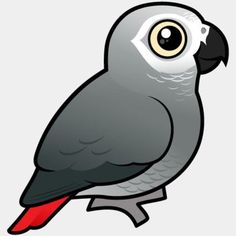 Learn about our cute Birdorable African Grey Parrot, a bird native to Africa, and find customizable t-shirts and gifts for bird pet owners and bird lovers.