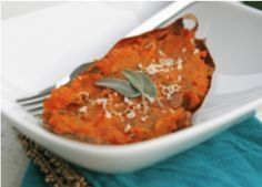 Twice-Baked Sweet Potatoes with Caramelized Onion and Sage Recipe : Get Daily Recipes.com