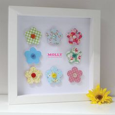 personalised baby girl flowers artwork by sweet dimple | notonthehighstreet.com