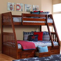 Weston Twin Over Full Bunk Bed With Built-in Ladder