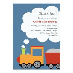 120 best train birthday party invitations images on pinterest birthday train party invitation filmwisefo