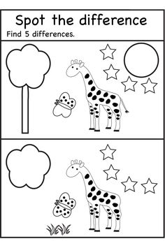 Spot the difference / FREE Printable Worksheets – Worksheetfun Kindergarten Worksheets, Worksheets For Kids, Preschool Activities, 5 Year Old Activities, Teaching Kids, Kids Learning, Find The Difference Pictures, Such Und Find, Free Printable Worksheets