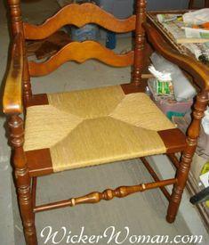 Seatweaving #101 -- Caning, Rush, Splint, Cord