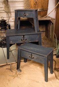 Anchor Tables Wooden Nautical Decor