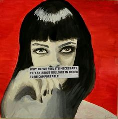 - Mia Wallace in Pulp Fiction Pulp Fiction Quotes, Fiction Movies, Pulp Fiction Art, Uma Thurman, Cool Stuff, Mia Wallace, Movie Lines, Movie Poster Art, Film Quotes
