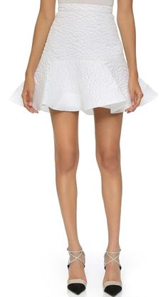 Alex Perry Cloque Flip Skirt