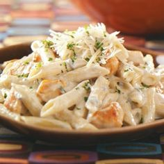 From Taste of Home, penne Gorgonzola with chicken.