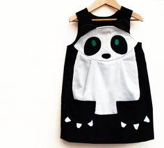 Panda girls play dress. $59.00, via Etsy. wildthingsdresses