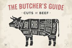 Cut of meat set. Butcher sheme. Beef by FoxysGraphic on @creativework247