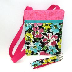 Floral Crossbody Purse Handmade Bag Hipster by ColleensDesigns