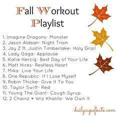 fall workout playlist