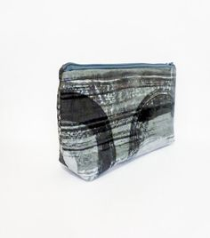 Large Zipper Pouch Cosmetic Bag Toiletry Bag by handjstarcreations, $12.50
