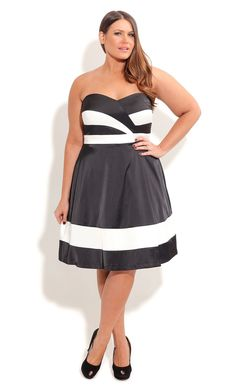 City Chic CLASSIC CHLOE DRESS- Women's Plus Size Fashion