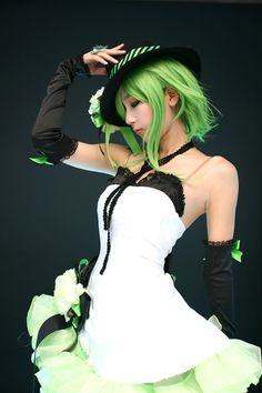 Gumi - Vocaloid Cosplayer:Unknown Man she's go good!!!! This cosplay is so pretty, this girl is so pretty, this photo is so pretty. Everything here is perfect.