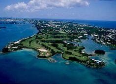Riddell's Bay golf course, #Bermuda - aerial