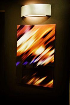 Abstract Print on Glass
