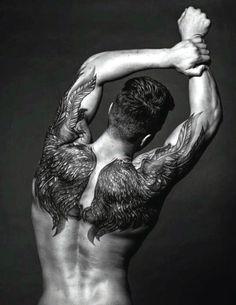 Full Wings Tattoo On Back For Men tatuajes | Spanish tatuajes |tatuajes para mujeres | tatuajes para hombres | diseños de tatuajes http://amzn.to/28PQlav