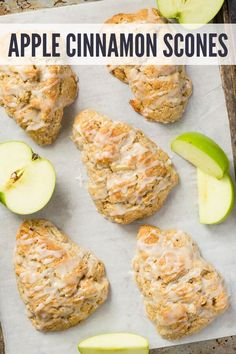 very best apple cinnamon scones you will ever try. They are airy, crumbly without being dry, and loaded with flavor.The very best apple cinnamon scones you will ever try. They are airy, crumbly without being dry, and loaded with flavor. Baked Apple Dessert, Apple Dessert Recipes, Fun Baking Recipes, Fruit Recipes, Apple Recipes, Brunch Recipes, Breakfast Recipes, Scone Recipes, Gourmet