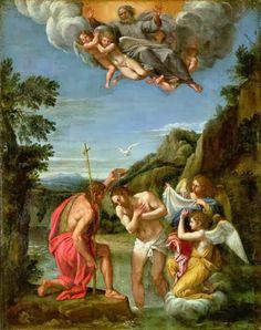 """El bautismo de Cristo"" - Francesco Albani"