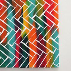 An easy and fun way to make your own artwork with just a canvas, paint, and tape.