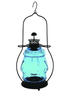 Pick up this cool blue lantern ($45) for your next back-deck get-together. #hgtvmagazine http://www.hgtv.com/decorating-basics/the-highlow-list-for-everyday-items/pictures/page-25.html?soc=pinterest