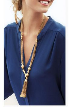 Y Necklace Multi Chain Tassel Design: A gorgeous tassel of stylish multi-chain Y-necklace with gold tone metal beads will perfectly complete any of your outfits.