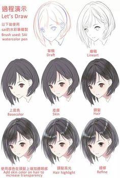 Trendy painting tutorial hair to draw 31 Ideas Mens Hairstyles Digital Art Tutorial, Digital Painting Tutorials, Art Tutorials, Drawing Hair Tutorial, Manga Tutorial, Drawing Skills, Drawing Techniques, Manga Hair, Anime Kunst
