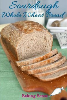 Whole Wheat Sourdough Bread tastes fantastic and will keep fresh for several days. Milk and honey give this sandwich bread a soft crumb and crust. Sourdough starter enhances the hearty whole-grain flavor. Milk Bread Recipe, Yeast Bread Recipes, Sourdough Recipes, Amish Recipes, Dutch Recipes, Baking Recipes, Homemade Sandwich, Homemade Breads, Sweets